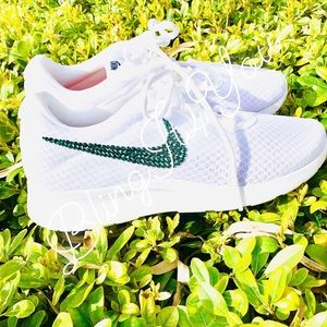 8b1afd240485 Nike. Swarovski crystal bling Nike Tanjun running shoes